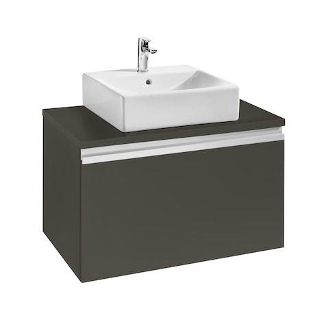 Meuble HEIMA 800 1 tiroir pour 1 vasque à poser - Frêne