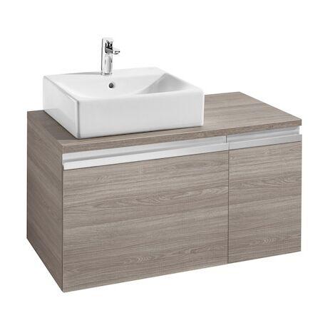 Meuble heima 900 2 tiroirs pour vasque poser gauche fr ne - Meuble pour vasque a poser ...