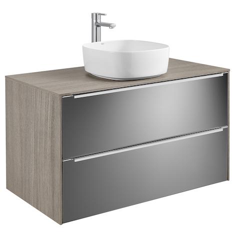 Meuble INSPIRA 1000 mm pour vasque à poser INSPIRA - City Oak