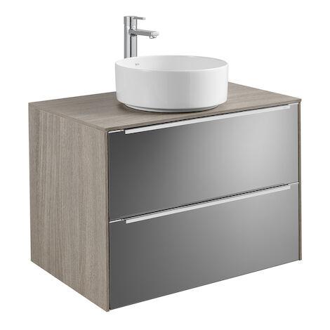 Meuble INSPIRA 800 mm pour vasque à poser INSPIRA - City Oak