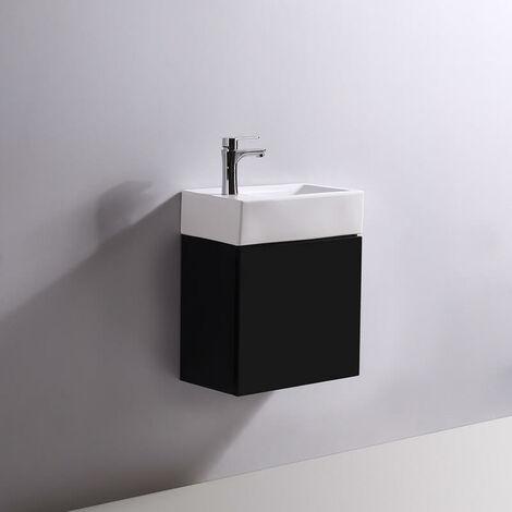 Meuble Lave main - Noir - Dark - 45x24 cm - Studio