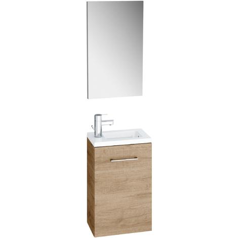 Meuble lave-mains avec miroir et vasque 4 cm