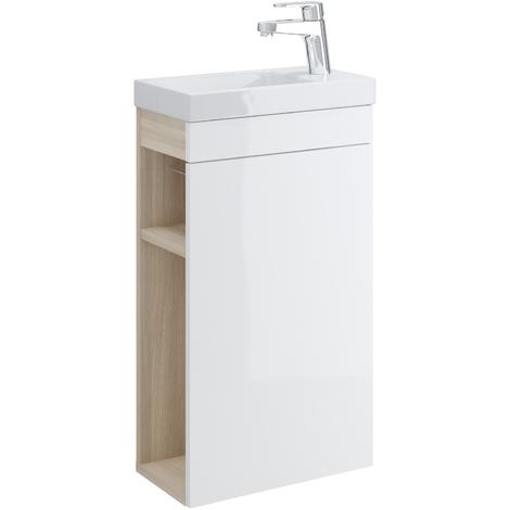 Meuble Lave Mains Blanc Avec Miroir Meuble Sous Vasque Et Plan Vasque