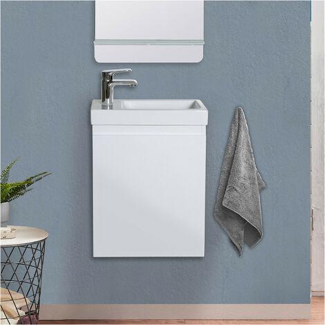 Meuble lave-mains Blanc L41 x H53 LISA - Blanc