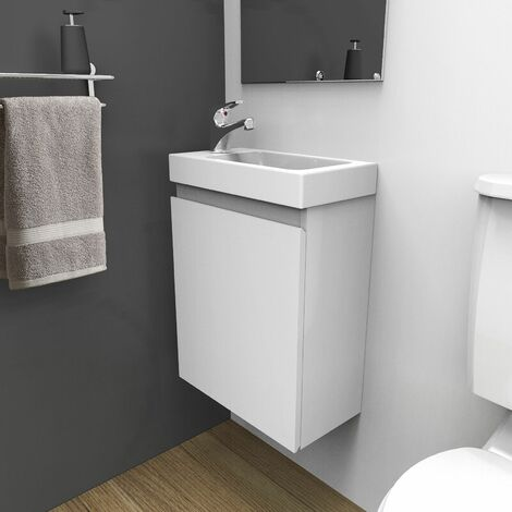 "main image of ""Meuble lave-mains Blanc LISA - Blanc"""