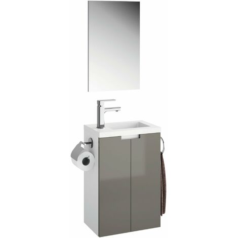 Meuble lave-mains Closy pack avec miroir L 40 x H 60 x P 25,2 cm