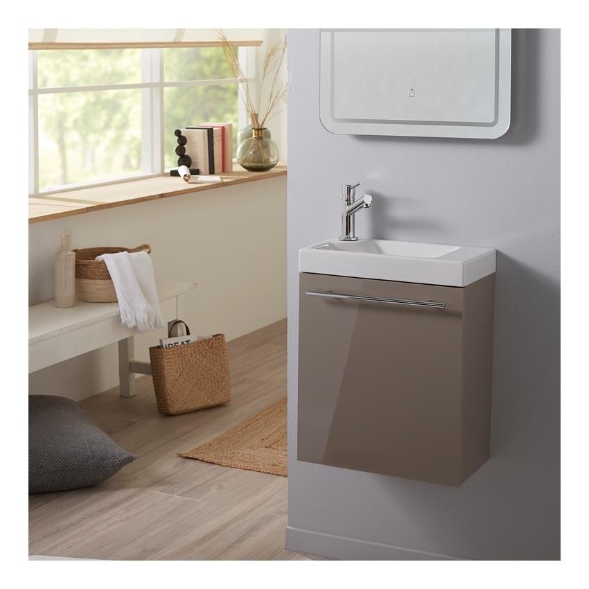 meuble lave mains complet couleur daim pour wc design. Black Bedroom Furniture Sets. Home Design Ideas