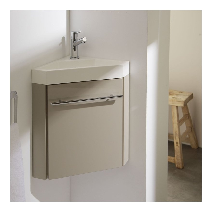 Meuble Lave Mains Dangle Couleur Daim Pour Wc