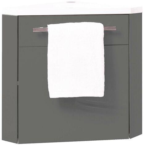 Meuble lave mains NINO ANGLE GRIS