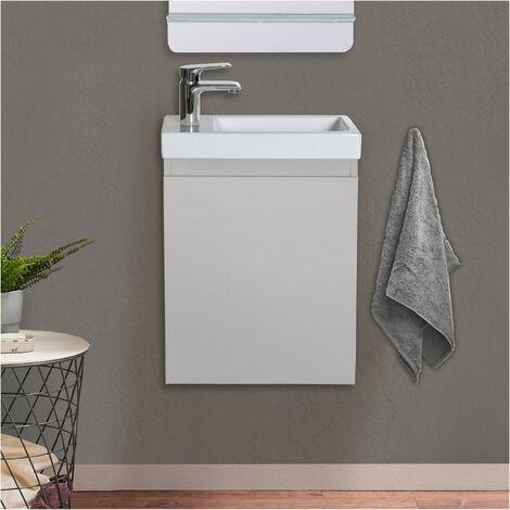 Meuble Lave-mains Gris Sable L41 x H53 LISA - Gris clair