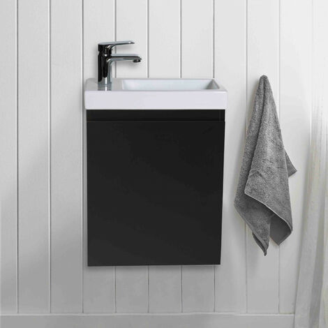 Meuble Lave-mains Noir Carbone L41 x H53 LISA