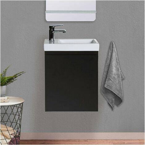 """main image of """"Meuble Lave-mains Noir Carbone LISA - Noir"""""""