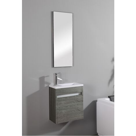Meuble lave-mains Pluton Wood + Miroir