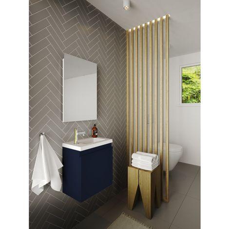 Meuble lave-mains Porto pack avec miroir L 40 x H 51 x P 25 cm