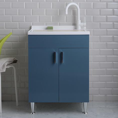 Meuble Lavoir Moderne 60x50 De Buanderie Avec Vasque