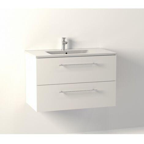 Meuble NEPTUNE Blanc 80 cm - SANS miroir