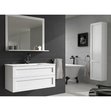 Batinea - Meuble de salle de bain Mila, Blanc, 120 - double ...