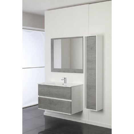Meuble pour salle de bain suspendu 90 cm Feridras Fabula 801008   Béton