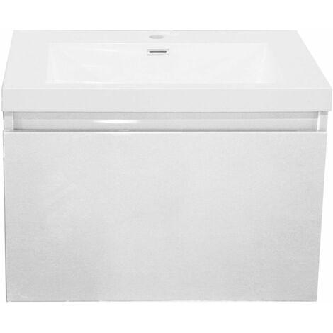 Meuble Primeo 80 cm suspendu 2 tiroirs blanc ALTERNA, Ref.2A080025.GD.PW