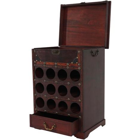 Meuble range bouteilles 12 compartiments 1 tiroir cesar Meuble range bouteille