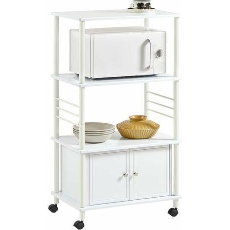 """main image of """"Meuble rangement cuisine roulant en bois, Chariot de cuisine de service micro-ondes SoBuy® FRG12-R"""""""
