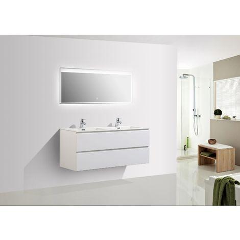 Meuble salle de bain Alice 1200 blanc mat - Miroir en option