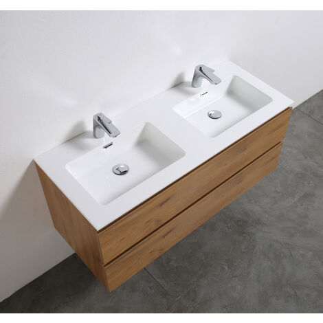 Meuble salle de bain Alice 1200 couleur chêne - Miroir en option