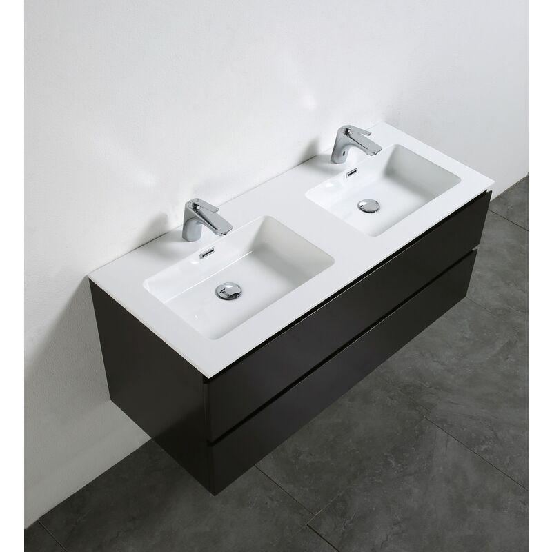 Meuble salle de bain Alice 1200 marron gris - Miroir en option