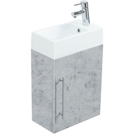 Meuble salle de bain Aris Aspect Béton