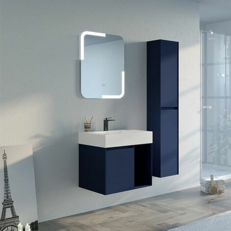 Meuble salle de bain ARTENA 600 Bleu Saphir