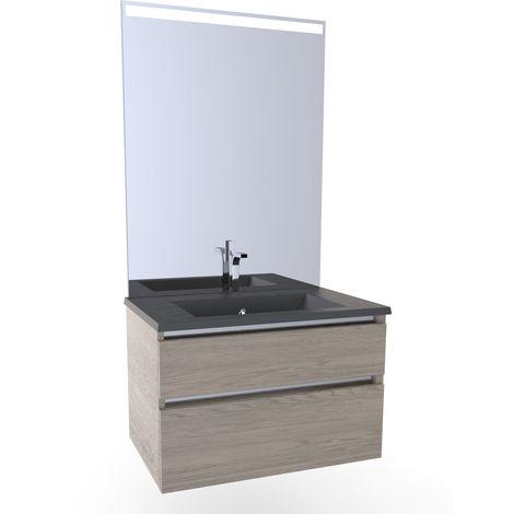 Meuble salle de bain avec vasque colorée CHÊNE