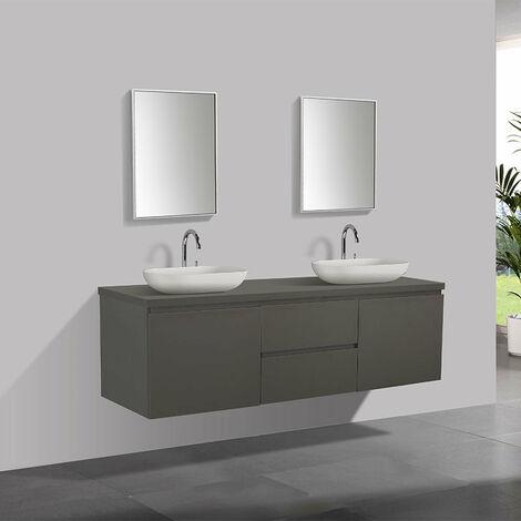 Meuble salle de bain design genova 180 cm ls001 cab m gre ls001 cab top - Meuble salle de bain 180 cm ...
