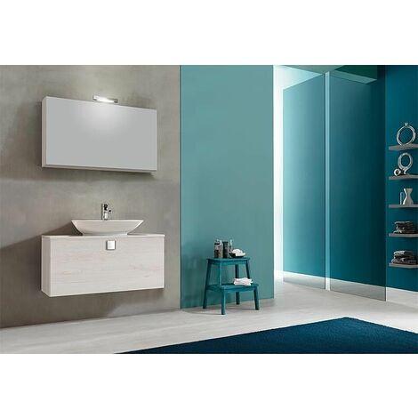Meuble salle de bain ELION Série, chene clair décor 1 tiroir