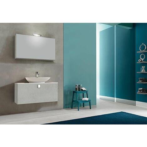 Meuble salle de bain ELION Série MBL, chene gris Dekor pierre, 1 tiroir