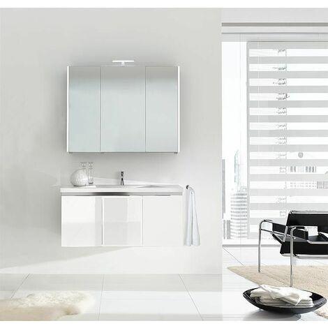 Meuble salle de bain ENOVI Serie MBH blanc brillant
