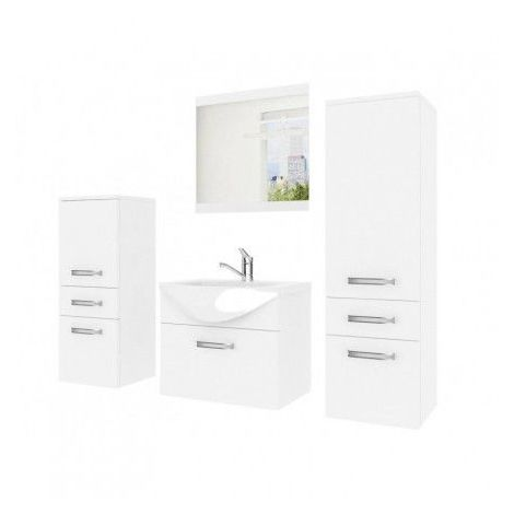 Meuble salle de bain Fine Blanc - Blanc