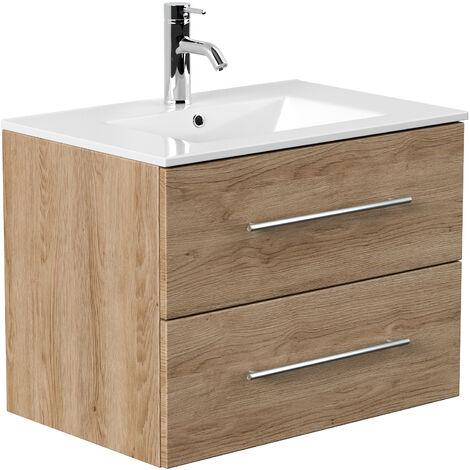 Meuble salle de bain Firenze 70 en décor chêne