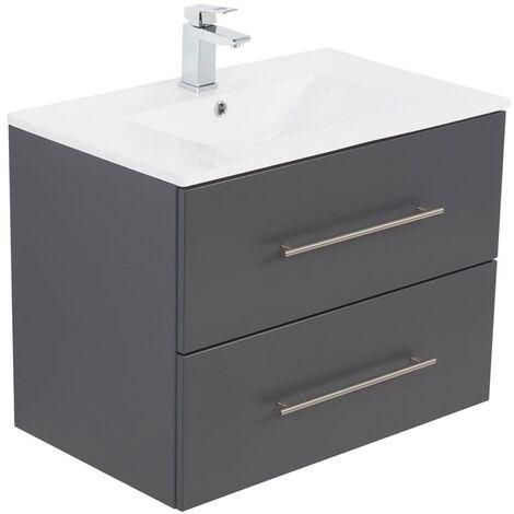 Meuble salle de bain Level 70 anthracite satiné