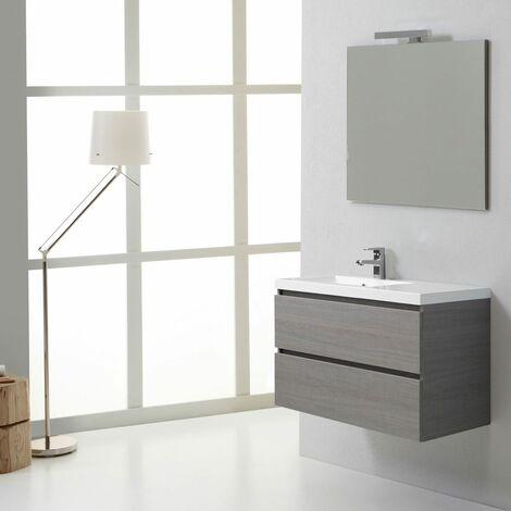 meuble salle de bain manhattan 90 cm avec tiroirs gauche 02010661000825