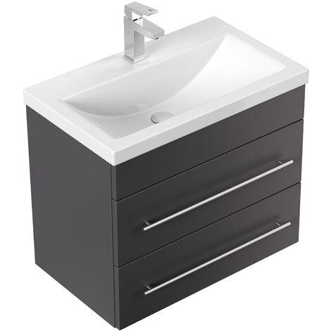 Meuble salle de bain Mars 600 SlimLine anthracite satiné
