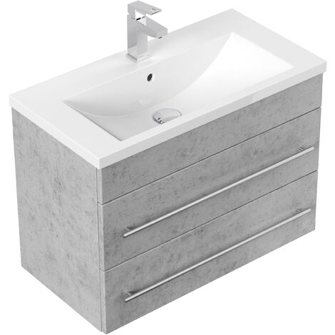Meuble salle de bain Mars 700 SlimLine Aspect Béton
