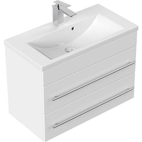 Meuble salle de bain Mars 700 SlimLine blanc brillant