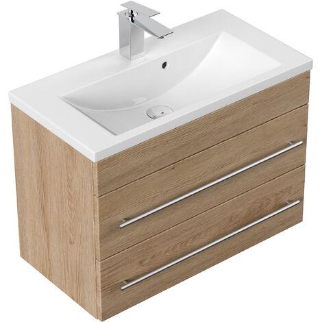 Meuble salle de bain Mars 700 SlimLine décor chêne