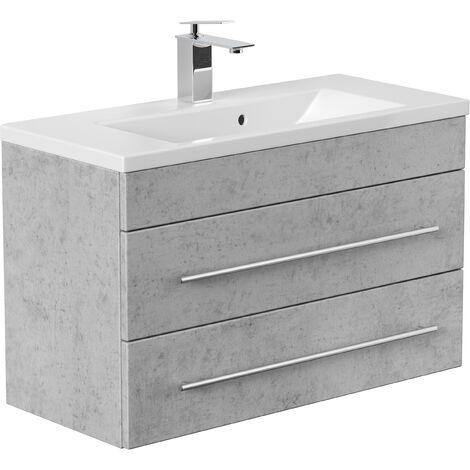 Meuble salle de bain Mars 800 SlimLine Aspect Béton