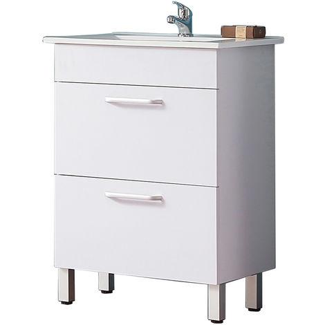 Meuble salle de bain Meuble sous vasque couleur blanc