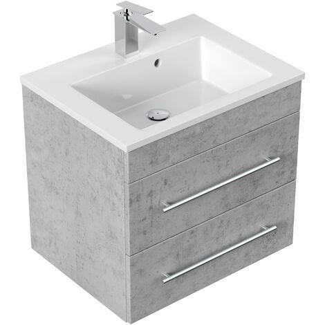 Meuble salle de bain Milet Aspect Béton