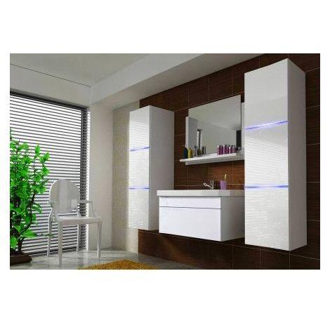 Meuble salle de bain PERRI BLANC - Blanc