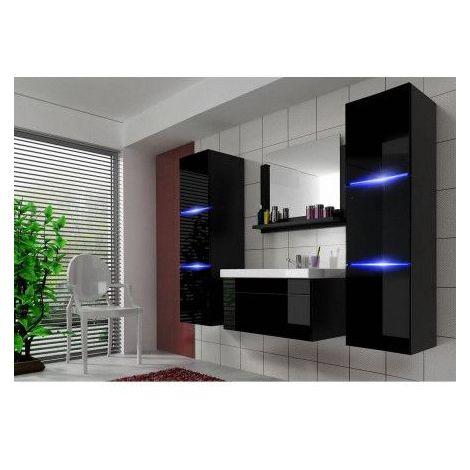 Meuble salle de bain PERRI NOIR - Noir