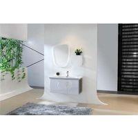Meuble salle de bain simple vasque 80 cm, INA BLANC