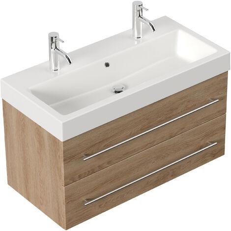 Meuble salle de bain Sunrise décor Chêne - SUNRISE000214DE